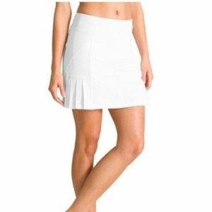 Athleta White Under Par Mini Skort Sz Large